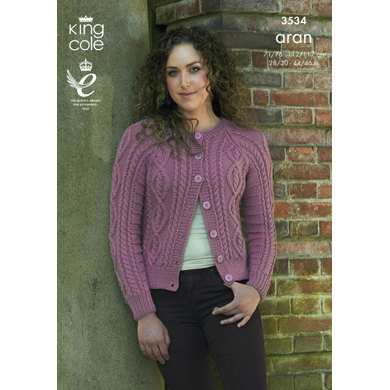 Cardigans in King Cole Aran - 3534