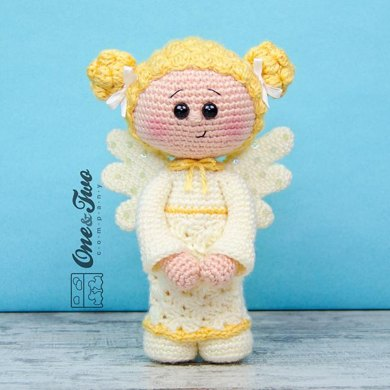 Christmas Angel Doll - Amigurumi Crochet Art Doll Pattern and ... | 390x390