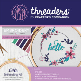 Crafter's Companion Hello Embroidery Kit