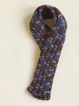 Ribbed Scarf in Lion Brand Vanna's Choice - 60815AD