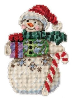 Mill HillJim Shore Snowman with CocoaCross StitchKit - 3in x 5in
