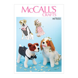 McCall's Pet Clothes M7850 - Paper Pattern, Size One Size