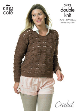 Crocheted Sweaters in King Cole DK - 3472