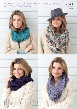 Snoods in Hayfield Super Chunky - 7243