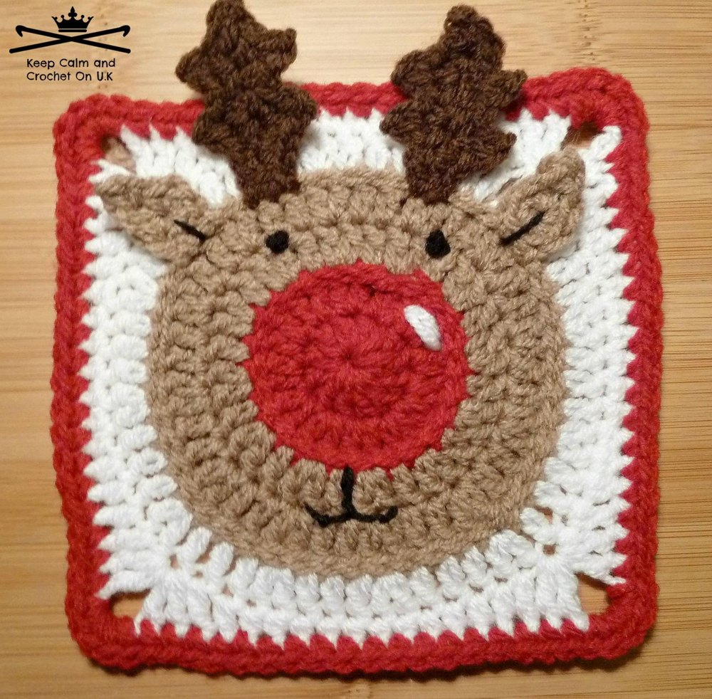 Rudolph the reindeer afghan square crochet pattern by keep calm zoom bankloansurffo Choice Image