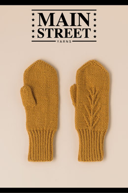 Harvest Mittens in Main Street Yarns Shiny + Soft - Downloadable PDF