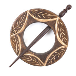 Pony Wooden Shawl Pin - 101