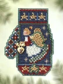 Mill Hill Angel Heart Mitten Beaded Cross Stitch Kit