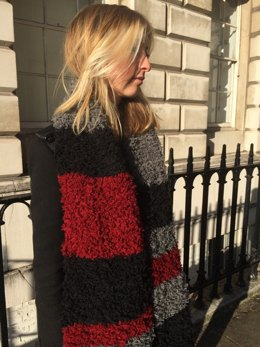 Colour Block Fur Scarf in Erika Knight Fur Wool
