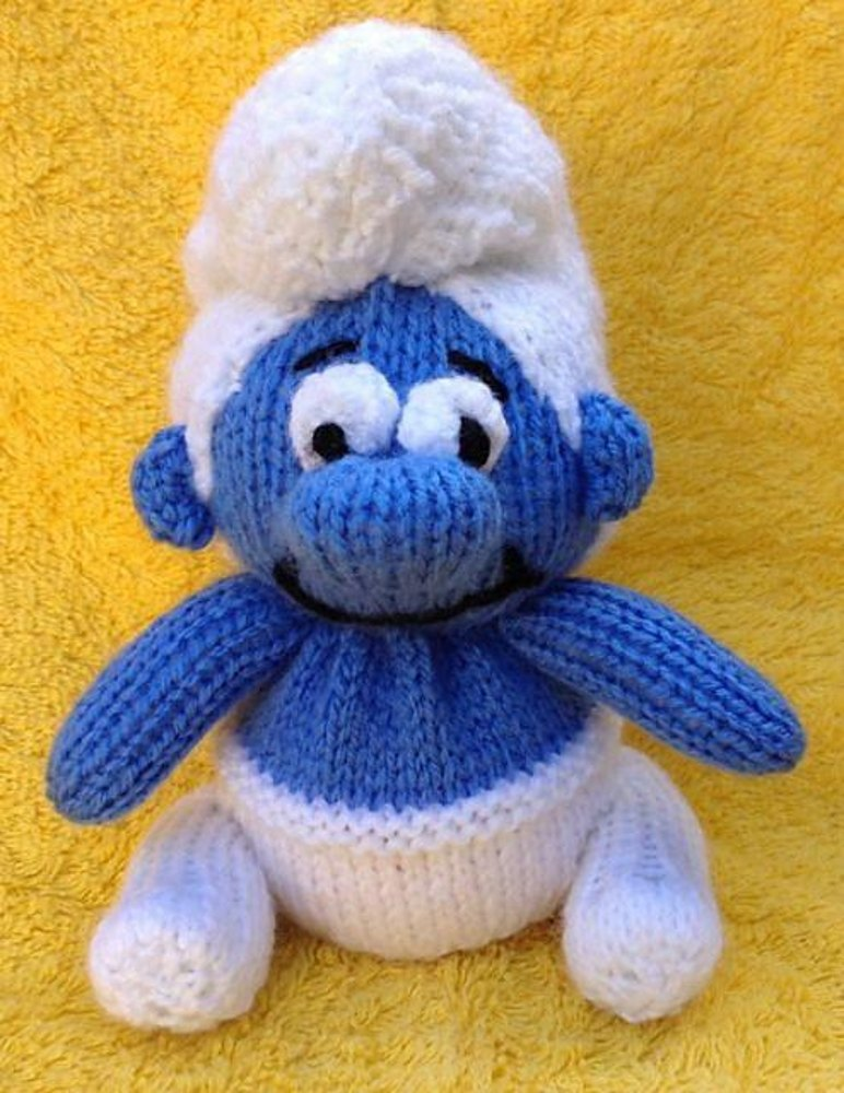 Smurf Choc Orange Cover / Toy Knitting pattern by Andrew Lucas