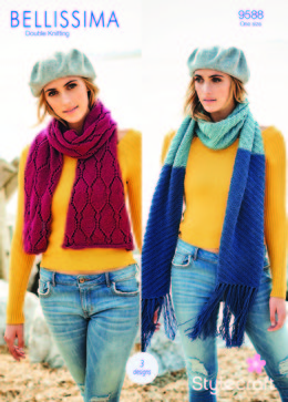 Scarf & Shawls in Stylecraft Bellissima - 9588 - Downloadable PDF