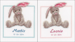 Vervaco Cute Bunny Cross Stitch Kit - 19 x 21 cm