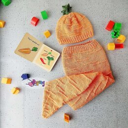 Carrot Baby Hat And Cocoon