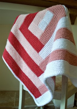 Candy Striped Baby Blanket