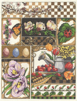 Janlynn Corporation Spring Montage Cross Stitch Kit