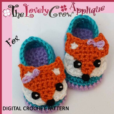 fc5ce980671 Applique Fox Booties Crochet pattern by Elizabeth Alan