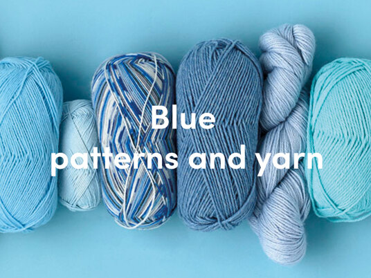 Blue yarns and patterns