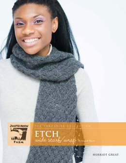 Etch Wide Scarf/Wrap in Juniper Moon Farm Herriot Great - Downloadable PDF