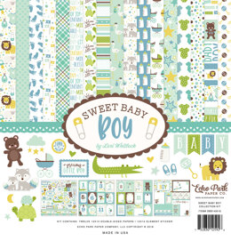 "Echo Park Paper Echo Park Collection Kit 12""X12"" - Sweet Baby Boy"