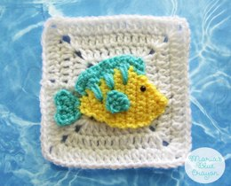 Tropical Fish Granny Square