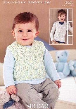 Top and Sweater in Sirdar Snuggly Spots DK - 4566