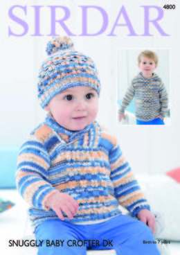 Sweaters and Hat in Sirdar Snuggly Baby Crofter DK - 4800 - Downloadable PDF