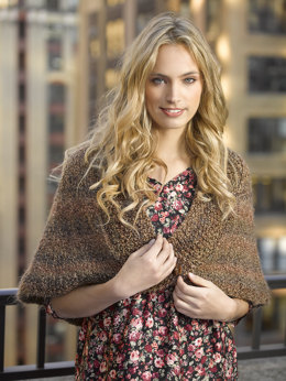 Library Capelet in Lion Brand Homespun - 80394AD