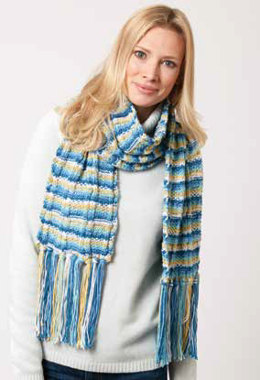 Color Weave Scarf in Caron Simply Soft Stripes - Downloadable PDF