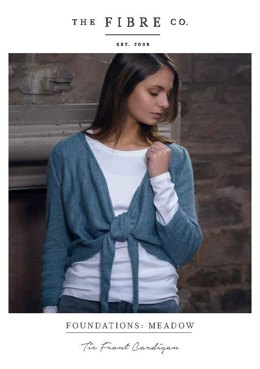 Tie Front Cardigan in The Fibre Co. Meadow - Downloadable PDF