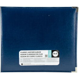 "We R Memory Keepers We R Classic Leather D-Ring Album 12""X12"" - Cobalt"