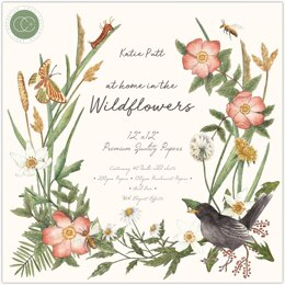"""Craft Consortium Double-Sided Paper Pad 12""""X12"""" 40/Pkg - At Home In The Wildflowers"""