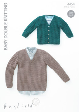 Sweater and Cardigan in Hayfield Baby DK - 4454 - Downloadable PDF