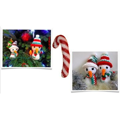 Christmas Decorations: Snowman & Candy Cane