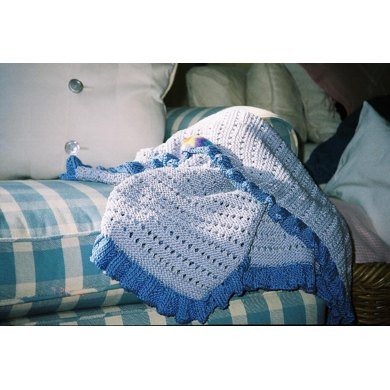 Two-Color Lace Blanket