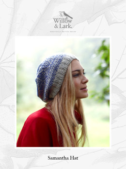 """Samantha Hat"" - Hat Knitting Pattern For Women in Willow & Lark Woodland"