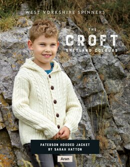 Paterson Hooded Jacket  in West Yorkshire Spinners The Croft Shetland Colours - DBP0077 - Downloadable PDF