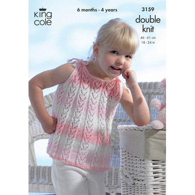 Sun Top and Cardigan in King Cole Melody DK - 3159