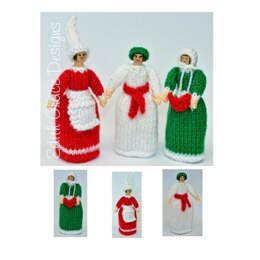 Christmas Peg Dolls Knitting Pattern