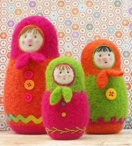 Felted Woolly Matroyshka Dolls