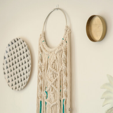 Macrame Wallhanger Athene in Hoooked Spesso Eco Barbante Chunky Cotton & Eucalyps - Downloadable PDF