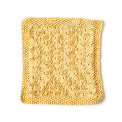 Orient Point Washcloth in Lion Brand Cotton-Ease - 90385