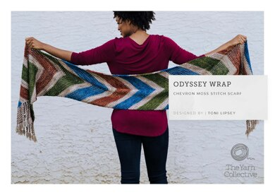 Odyssey Wrap by Toni Lipsey in The Yarn Collective - Downloadable PDF