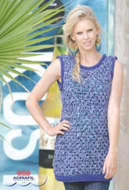 Gina Dress in Adriafil Energia and Memphis - Downloadable PDF