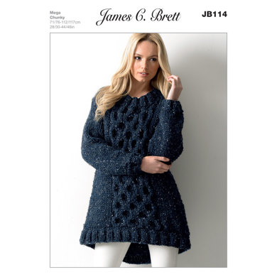Ladies' Tunic in James C. Brett Rustic Mega Chunky - JB114
