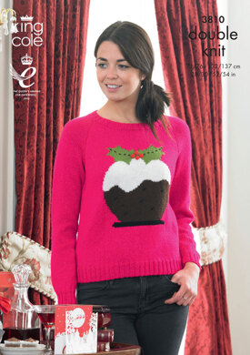 Sweaters In King Cole Glitz DK and Big Value DK - 3810