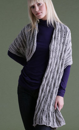 Lace Wrap in Lion Brand Cotton-Ease - 60500