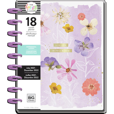 Me & My Big Ideas The Happy Planner Life In Bloom Classic 18 Month Planner