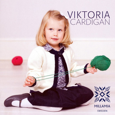 Girls' Viktoria Cardigan in MillaMia Merino Wool