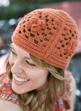 Crocheted Echelon Hat in Berroco Vintage