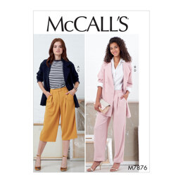 McCall's Misses' Jackets and Pants M7876 - Sewing Pattern